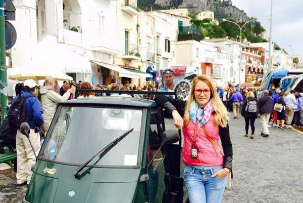Capri. Malebný taliansky ostrov.