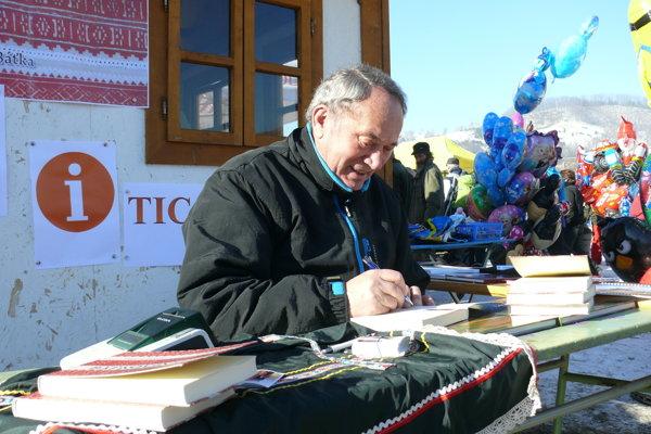 Matúš Báťka na furmanských pretekoch.