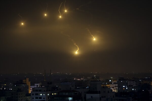 Izraelský nálet pásme Gazy.