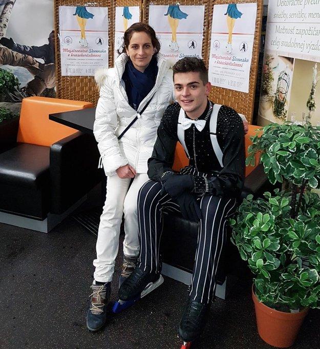 Simon Fukas s trénerkou Zuzanou Drnzíkovou.