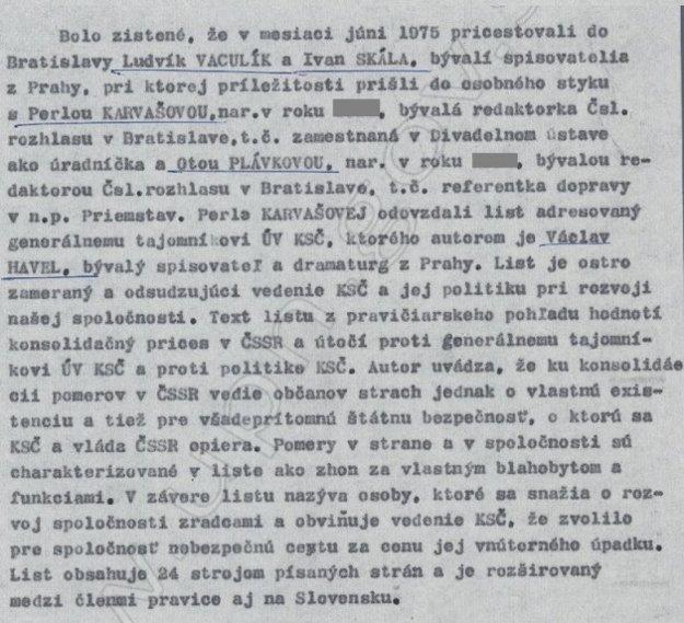 Zo správy ŠtB o bezpečnostnej situácii v Západoslovenskom kraji v auguste 1975.