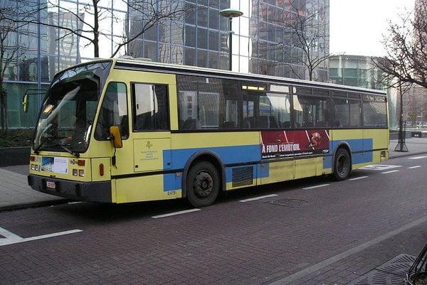 Autobus bruselského dopravného podniku.