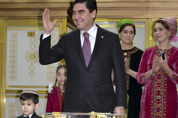 Turkménsky prezident Gurbanguly Berdymuchamedov.