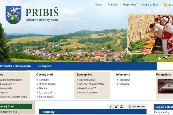 Webová stránka obce spĺňa všetky zákonom stanovené podmienky.