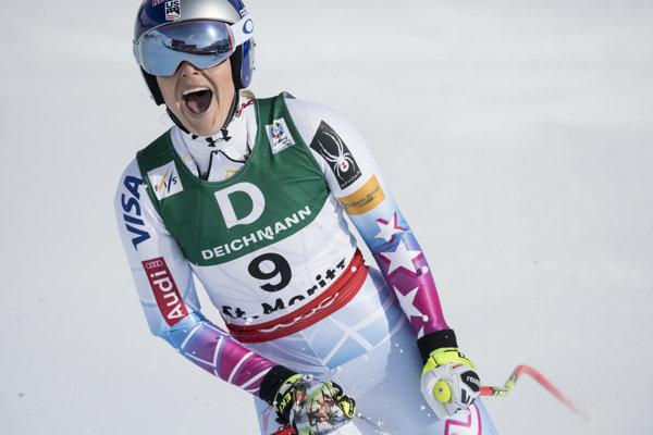 Americká lyžiarka Lindsey Vonnová opustila majstrovstvá sveta vo švajčiarskom St. Moritzi so širokým úsmevom.