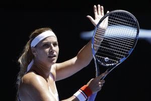 Dominika Cibulková sa tešila z postupu.