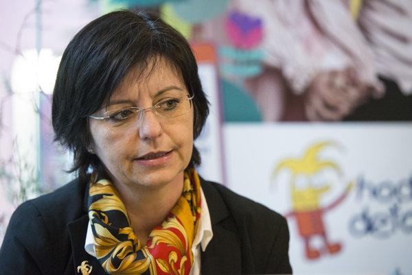 Správkyňa a výkonná riaditeľka Nadácie pre deti Slovenska Dana Rušinová.