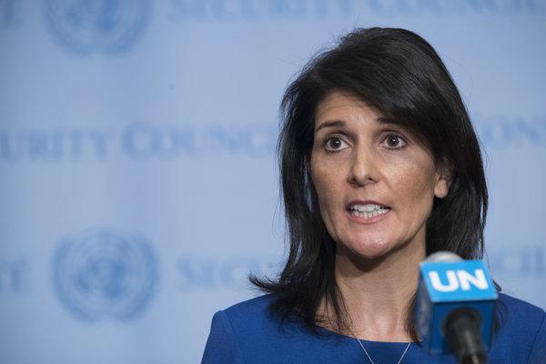 Veľvyslankyňa Spojených štátov pri OSN Nikki Haleyová.