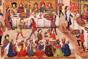 Stredoveké stravovanie je zaujímavé aj tým, že sa v ňom zrkadlí sociálny status. Už pri stole bolo na prvý pohľad jasné, kto kam patrí.