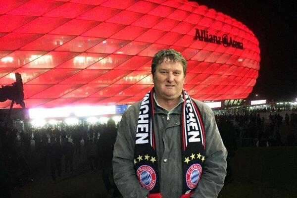 Miroslav Drahoš si v stredu užil osemfinále Ligy majstrov UEFA v Allianz Arene.