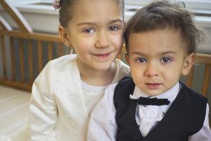 Naše detičky, Rebeka a Ondřej - táto fotka je z našej svadby