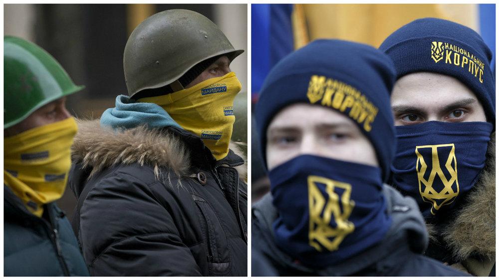 Majdan v roku 2014 a v roku 2017.