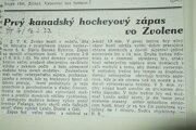 Dobový dokument zo Športového týždenníka č. 7. (16.2.1932 )