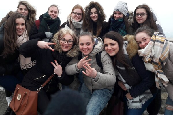 Bratislavu si žiaci obchodnej akadémie užili.