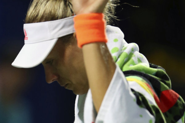Angelique Kerberová po prehre s Elinou Svitolinovou.