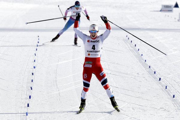 Majsterkou sveta v skiatlone na šampionáte v klasických lyžiarskych disciplínach vo fínskom Lahti sa stala Nórka Marit Björgenová.