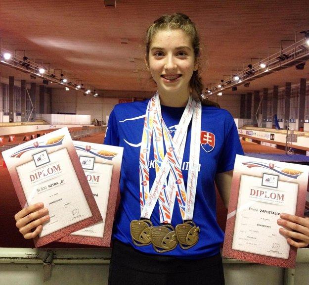 Emma Zapletalová má dve individuálne prvenstvá a jeden titul v štafete.