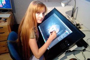Pred pár rokmi si Ema kúpila špeciálny tablet na digitálnu kresbu, teraz zháňa peniaze na prenájom rendrovacej farmy.