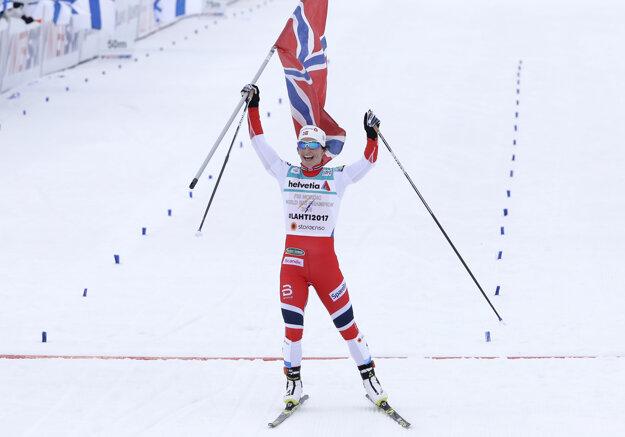 Marit Björgenová prišla do cieľa s veľkým náskokom.