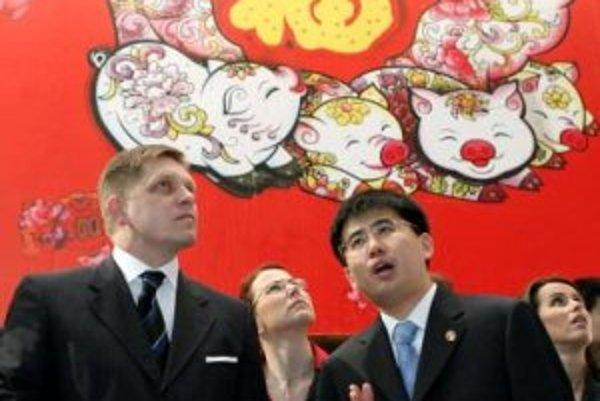 Premiér Robert Fico počas svojej návštevy Číny.