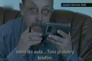 Záber z videa, ktoré si Vladimír Fruni v roku 2002 nahral ako poistku proti Jozefovi Majskému.