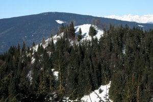 Najvyšší bod Ondrejiska, výhľadový Borovniak (v popredí).
