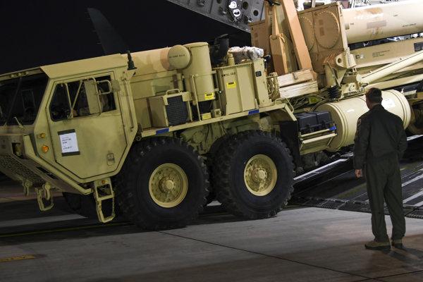 Systém protiraketovej obrany THAAD.