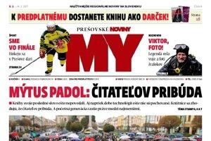 Titulná strana týždenníka MY Prešovské noviny č. 9/2017.