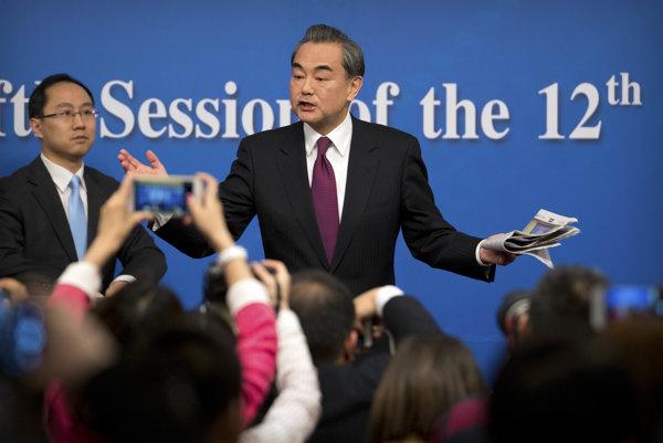 Čínsky minister zahraničných vecí Wang Ji.