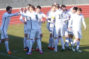 Skalická radosť po druhom góle Ľuba Ulricha.