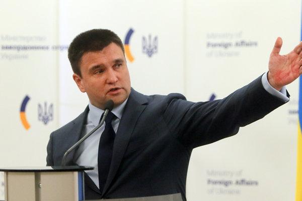 Ukrajinský šéf zahraničia Klimkin.