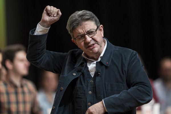 Prezidentský kandidát francúzskej krajnej ľavice Jean-Luc Mélenchon.