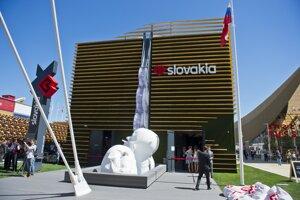 Exteriér slovenského pavilóna na EXPO 2015.