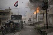 Irackí vojaci bojujúci v uliciach Mósulu.