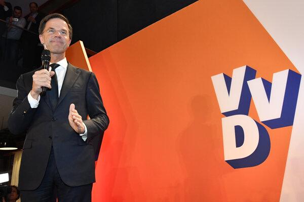 Víťaz holandských volieb premiér Mark Rutte.