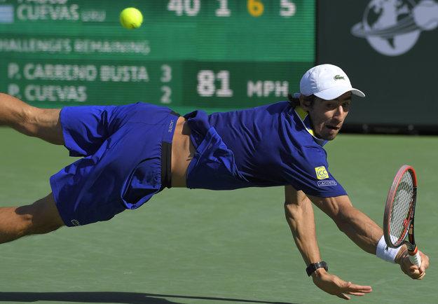 Pablo Cuevas hrá veľmi obetavo. Jeho súperom v druhom kole na turnaji v Miami môže byť Martin Kližan.