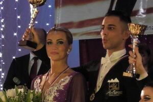 Simona Brecíková s Matteom Cicchittim.
