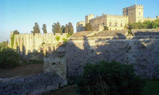 Historická časť mesta Rodos.