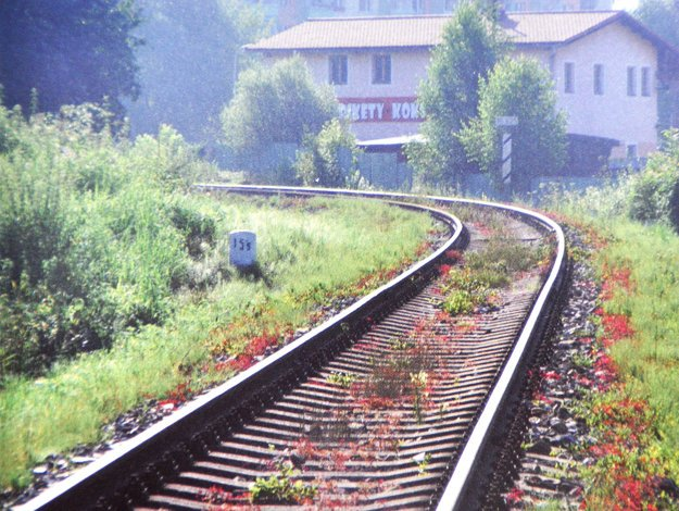 Miesto najväčšej tragédie na oravskej železnici.