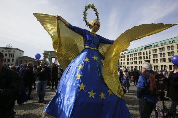 Na podporu Európskej únie sa pochodovalo po celej Európe.