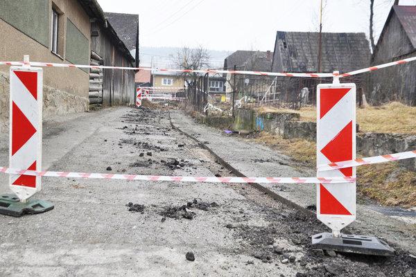 Rozkopané ulice.