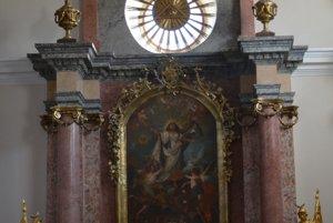 Oltárny obraz v topoľčianskom kostole.