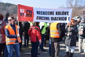 Z druhého protestu v Kysuckom Lieskovci.