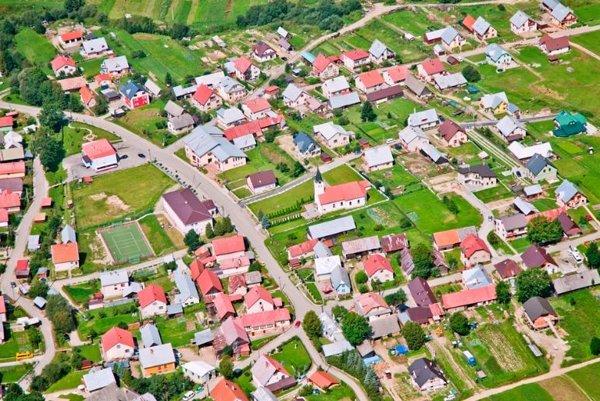 Letecký pohľad na Beňadovo.