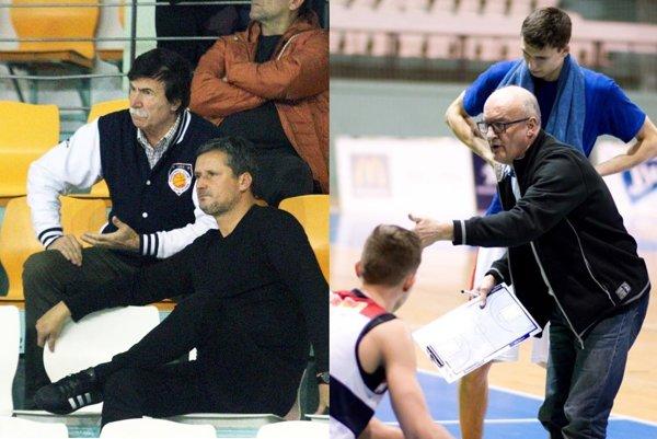 Na snímke vľavo prezident klubu Stanislav Michalík a vedúci mužstva Jozef Mečiar. Vpravo tréner Ľubomír Urban.