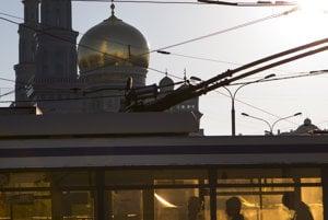 Hlavná mešita v Moskve otvorená v roku 2015.