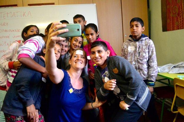 Mária počas letnej školy, prípravnej fázy na učenie v Stráňach pod Tatrami