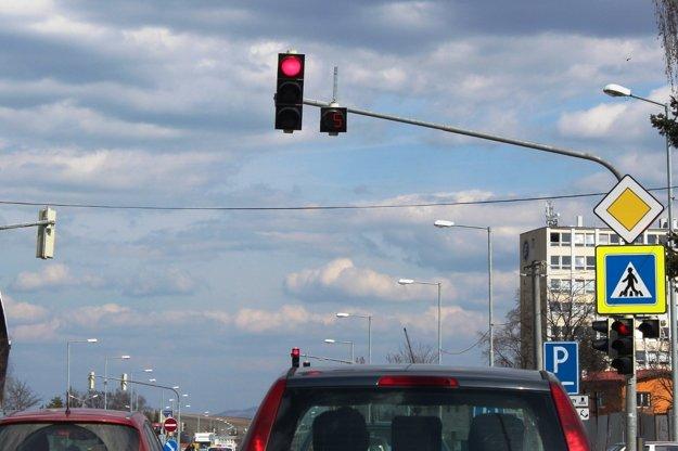 Odpočítavadlo pri semafore v Poprade.