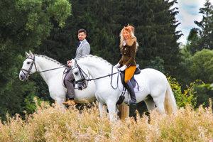 S Kateřinou Říhovou, milovníčkou koní.