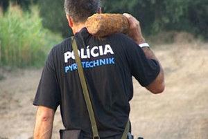 Muníciu zneškodnil policajný pyrotechnik. (Ilustračná snímka).
